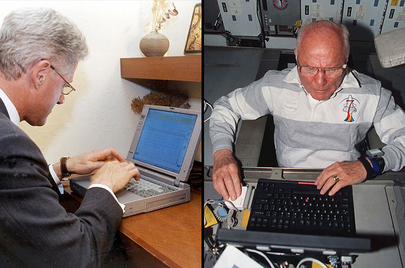 Laptop Clinton used to send historic email to outer space ...