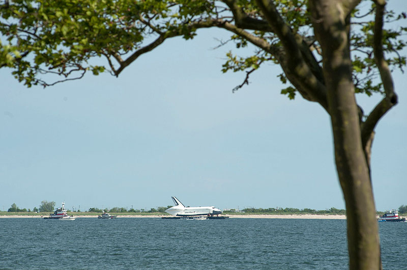 Space shuttle at sea: Enterprise sails for NYC's Intrepid, via New Jersey