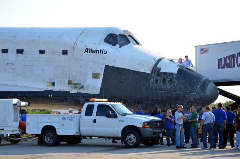 Final space shuttle crew rehearses for launch day