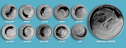 Space Coins Collection Coin Collection Includes