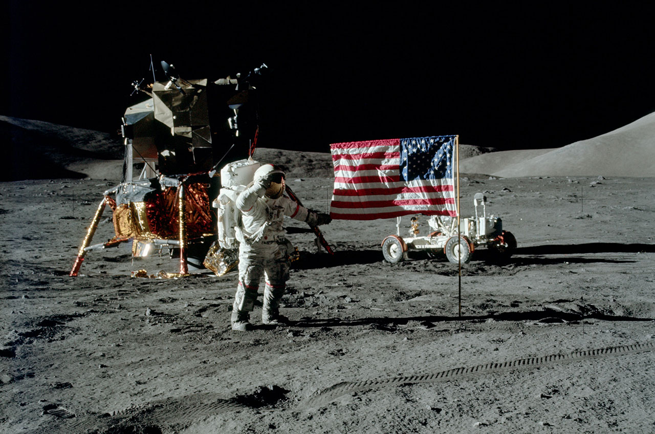 first footsteps on the moon