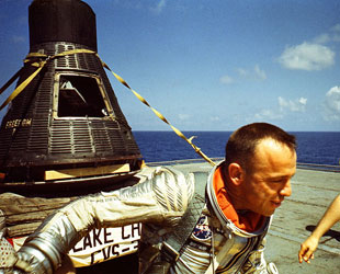 Freedom 7 Mercury capsule leaving Naval Academy for JFK ...