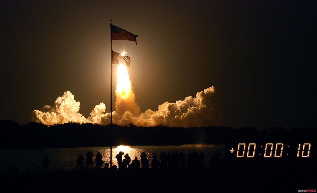 space shuttle endeavour night launch - photo #2
