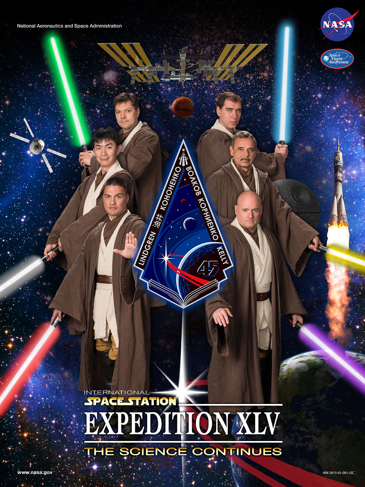 Future Space Station Crew Dons Jedi Robes For Star Wars