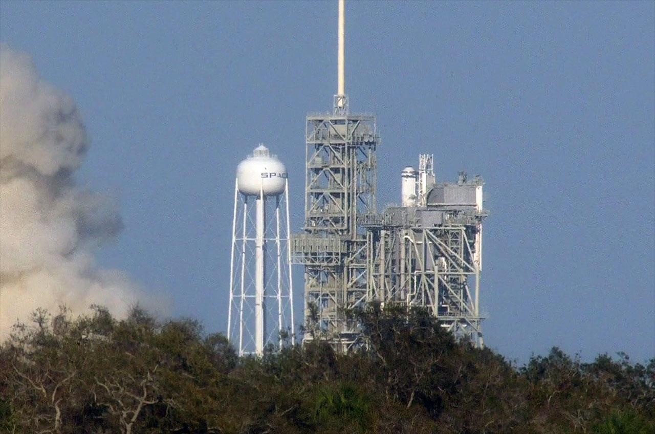 SpaceX Falcon static fire reignites historic NASA launch ...