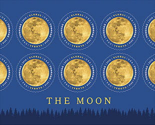 Moon Mail Earth S Moon Rises On New Us Postage Stamp