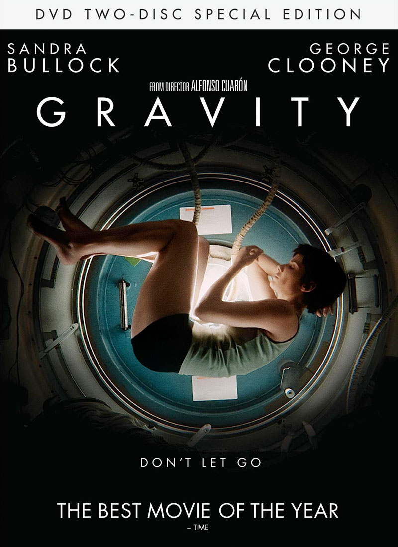 Gravity Dvd Cover gravity' drops into stores, beams to space station ...