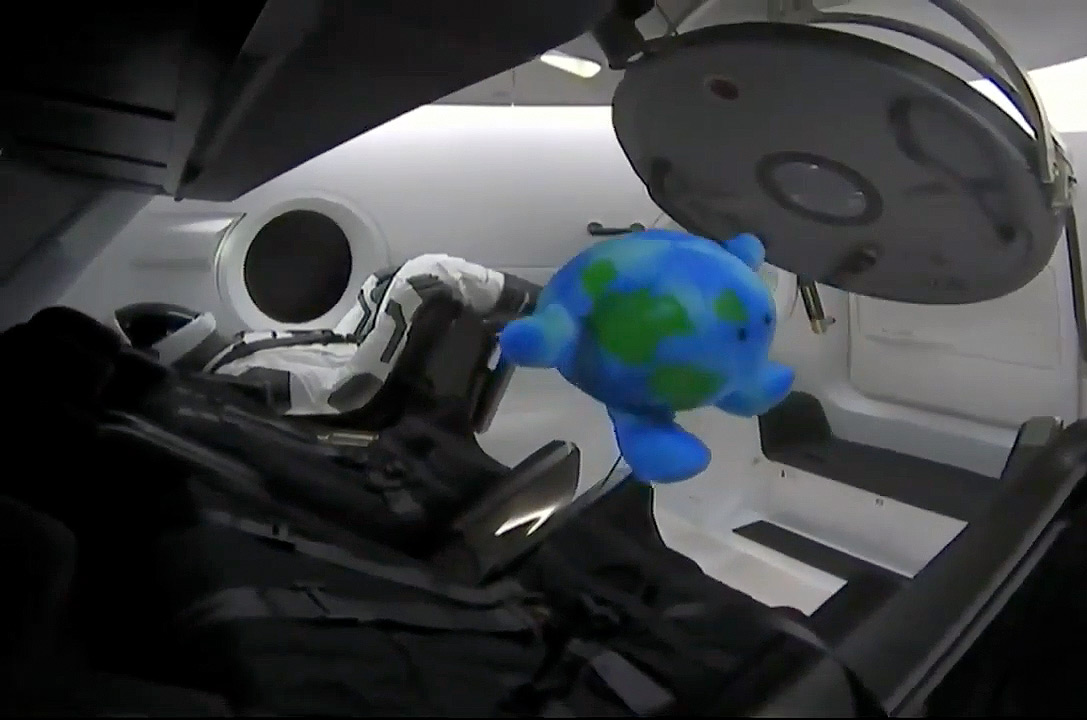 Little Earth On Spacex Crew Dragon Gives Boost To Celestial Buddies Collectspace