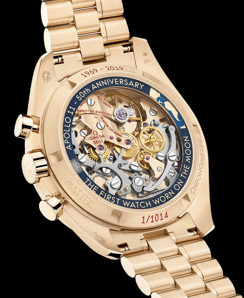 Omega Reveals Gold Speedmaster To Mark Apollo 11 50th Anniversary