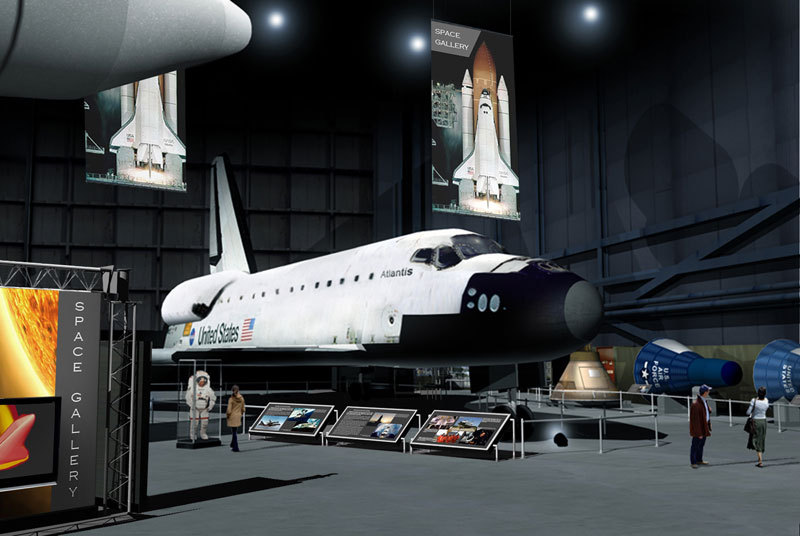 How to display a retired space shuttle orbiter