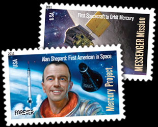 US space exploration history on US stamps  Wikipedia