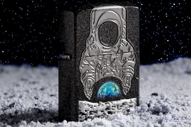80c966b6480 Zippo s 2019 Collectible of the Year lighter celebrates the first moon  landing s 50th anniversary. (Zippo)
