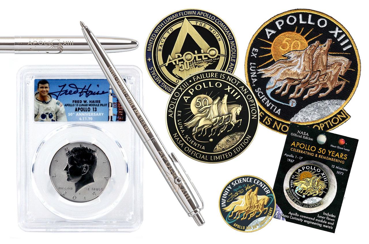 Apollo Space Program Lapel Pin Set