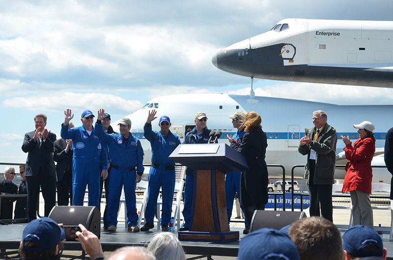 Space shuttle Enterprise lands in New York for museum display