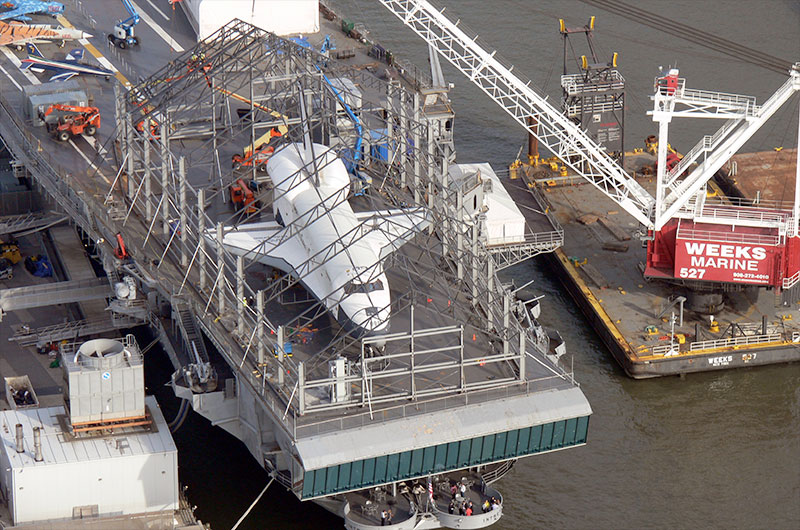 Space shuttle Enterprise's new home taking shape at New ...