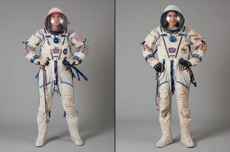 Lempertz Is Also Auctioning Two Russian Sokol KV 2 Spacesuits Worn By Astronaut Michael Foale Left And Cosmonaut Alexander Kaleri To The International