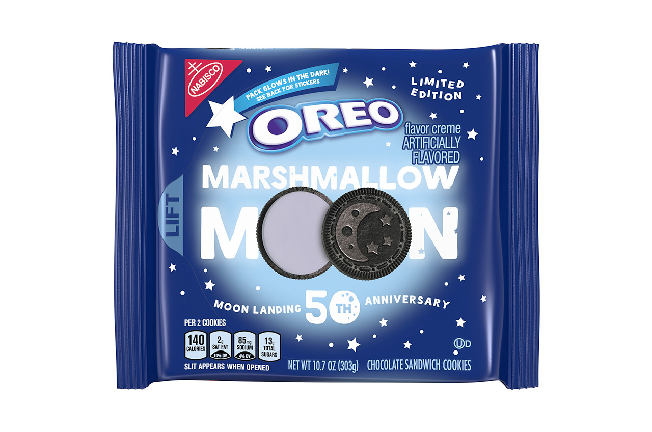 194bf301a37 Nabisco s Oreo Marshmallow Moon cookies are in celebration of the 50th  anniversary of the first lunar landing. (Nabisco)