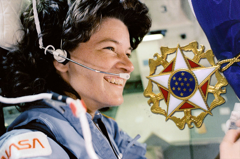 Sally Ride, America's first woman in space, posthumously ...