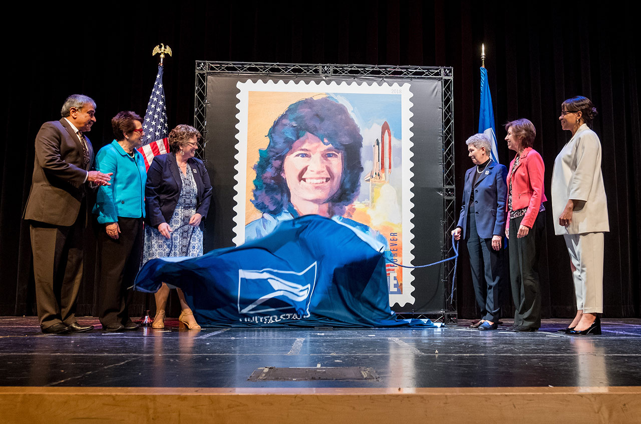 Usps Ceremony Dedicates Amazing Sally Ride Forever Postage Stamp