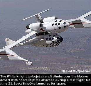 مركبة فضائية خاصة يجعل أول رحلة منفردة News-060204a