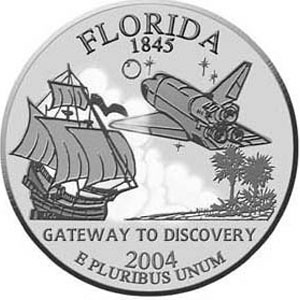 Gateway to Discovery Lot of Five Florida State Quarter Coin Gift Displays