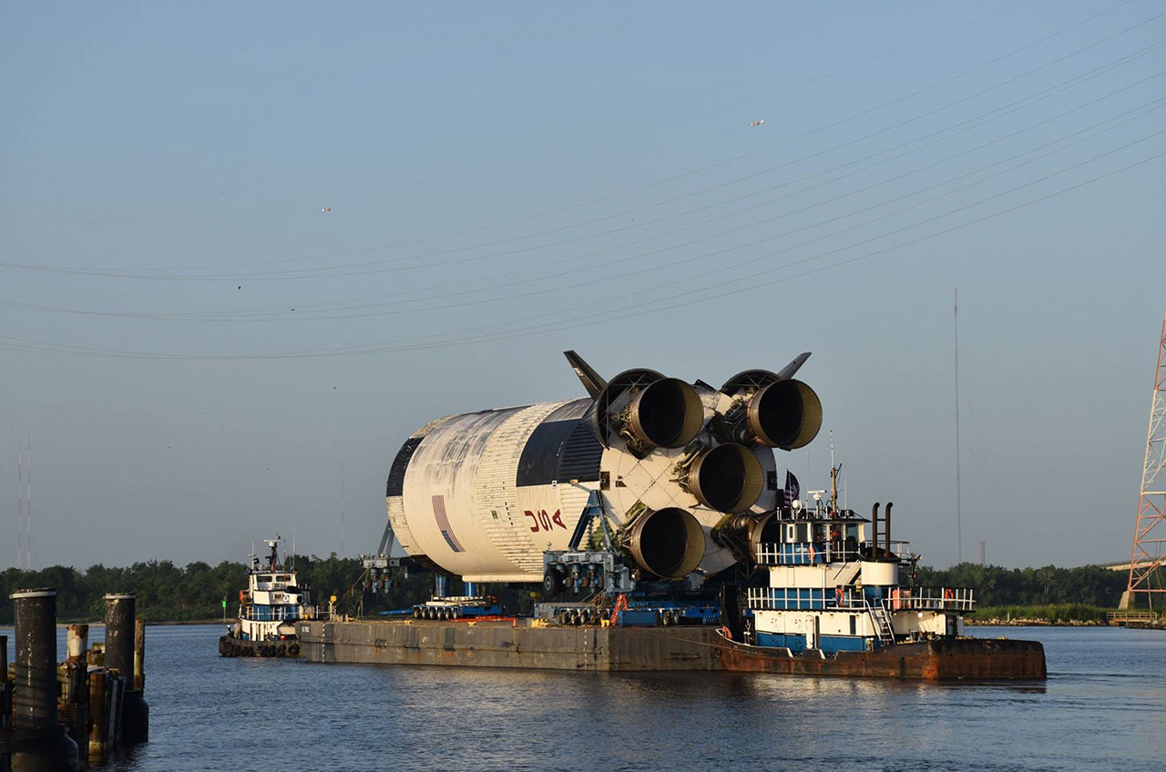 Mission S Ic Nasa Saturn V Moon Rocket Stage Moving To