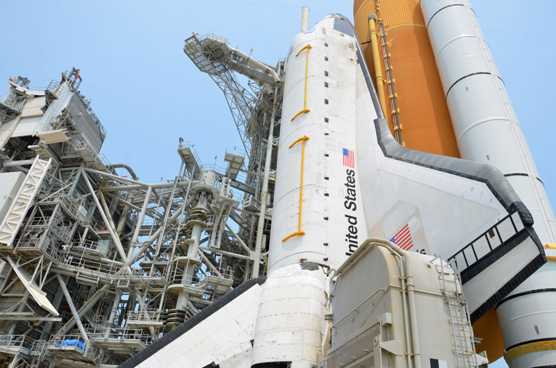 Photo Gallery On The Pad With Nasa S Last Space Shuttle