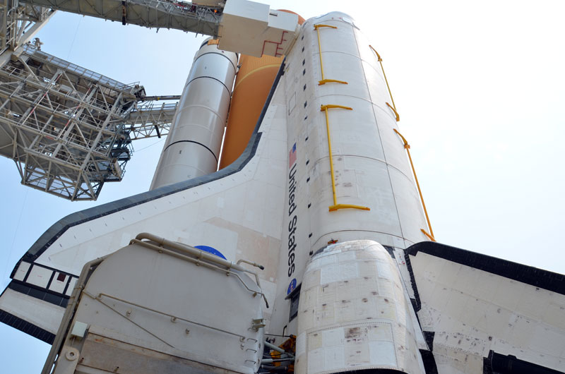 On the pad with NASA's last space shuttle to launch