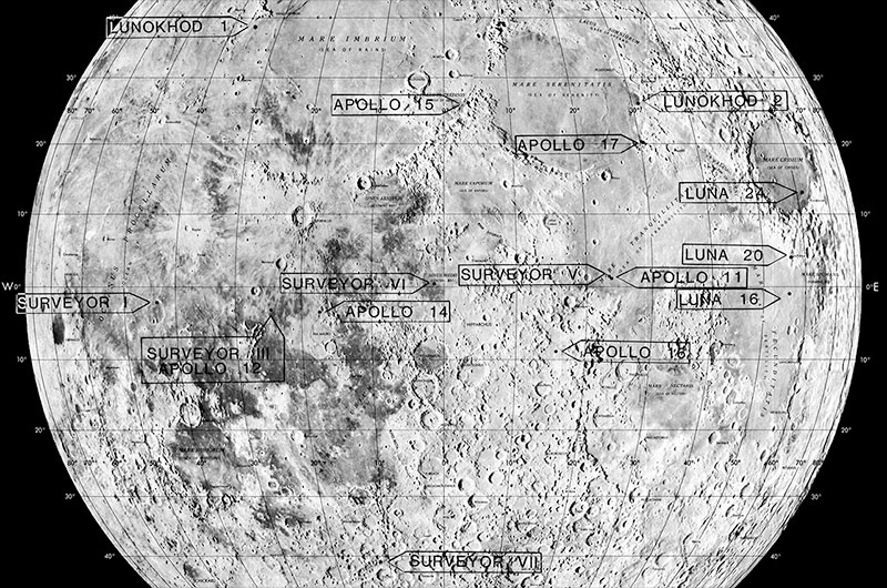 Scientists search lunar landscape for lost moon probes ...