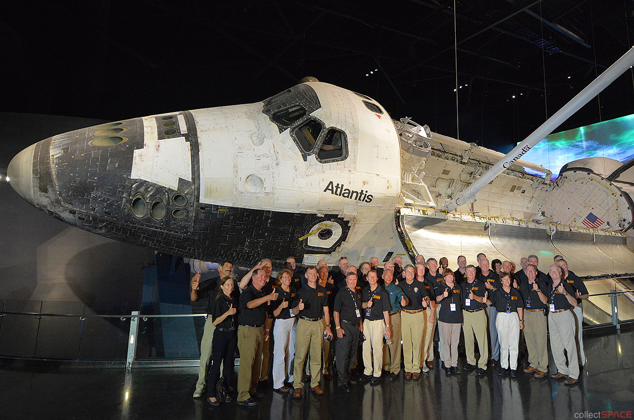 Space Shuttle Atlantis launches on public display in ...