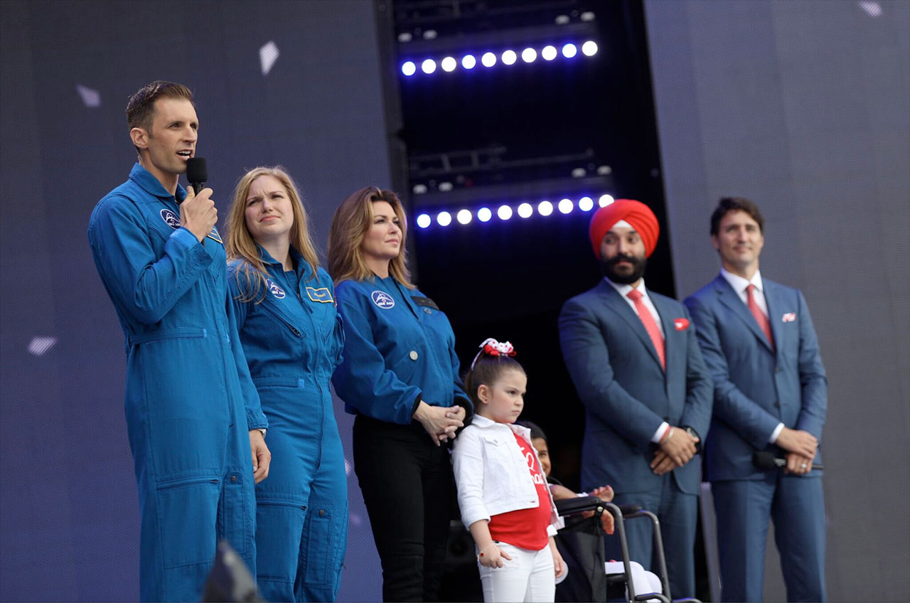 Canada reveals two new astronauts during 150th anniversary for Navdeep s bains