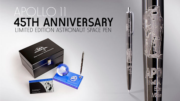space pens mark 45th anniversary of first moon landing