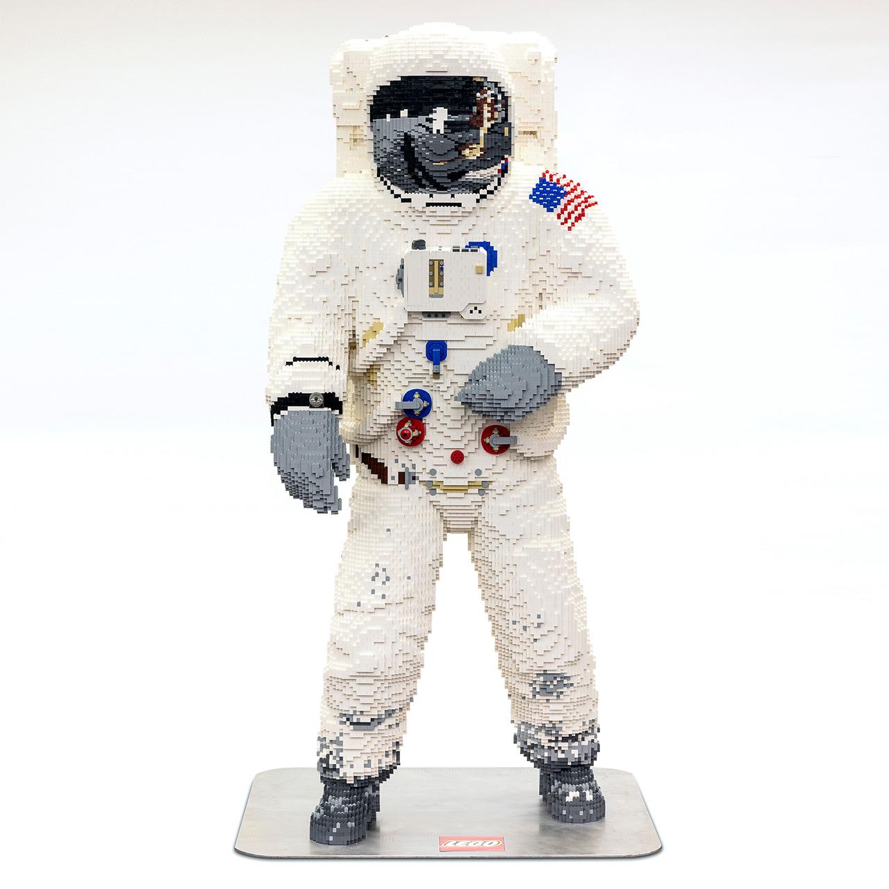 LEGO exhibits life-size moonwalker model at Apollo 50 Festival