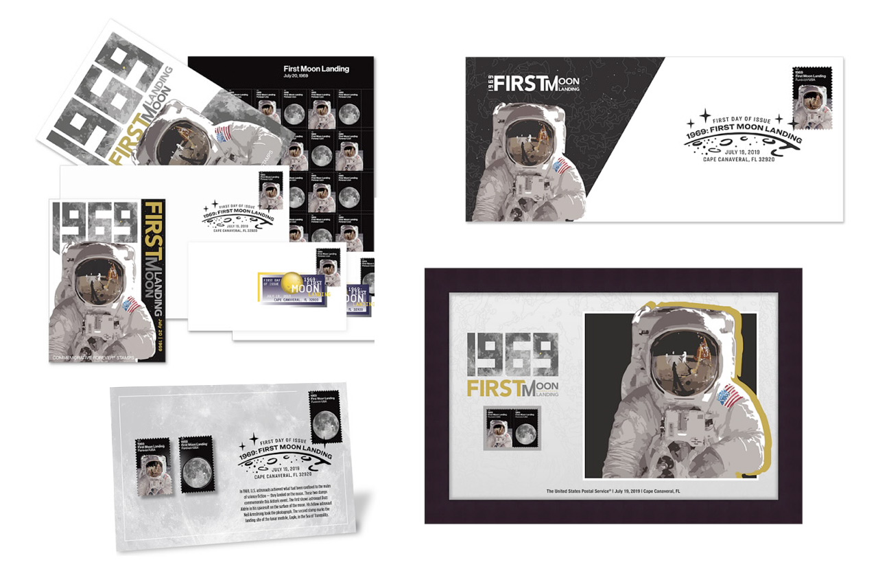 USPS '1969: First Moon Landing' stamps pinpoint Tranquility
