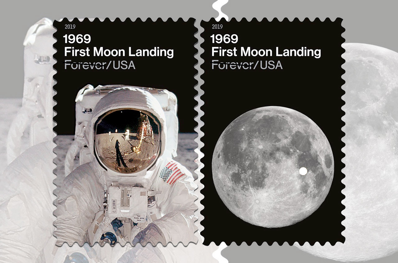 Usps 1969 First Moon Landing Stamps Pinpoint Tranquility