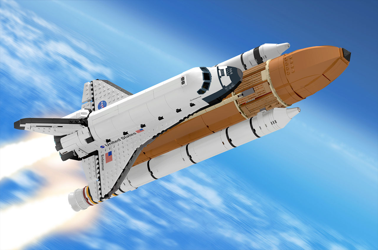 space shuttle with rocket - photo #29