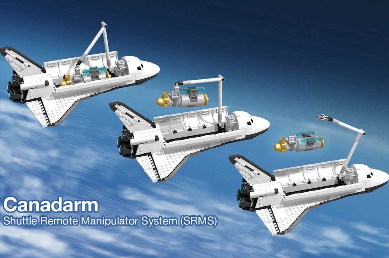 Fan-designed LEGO space shuttle stacks up to Saturn V ...