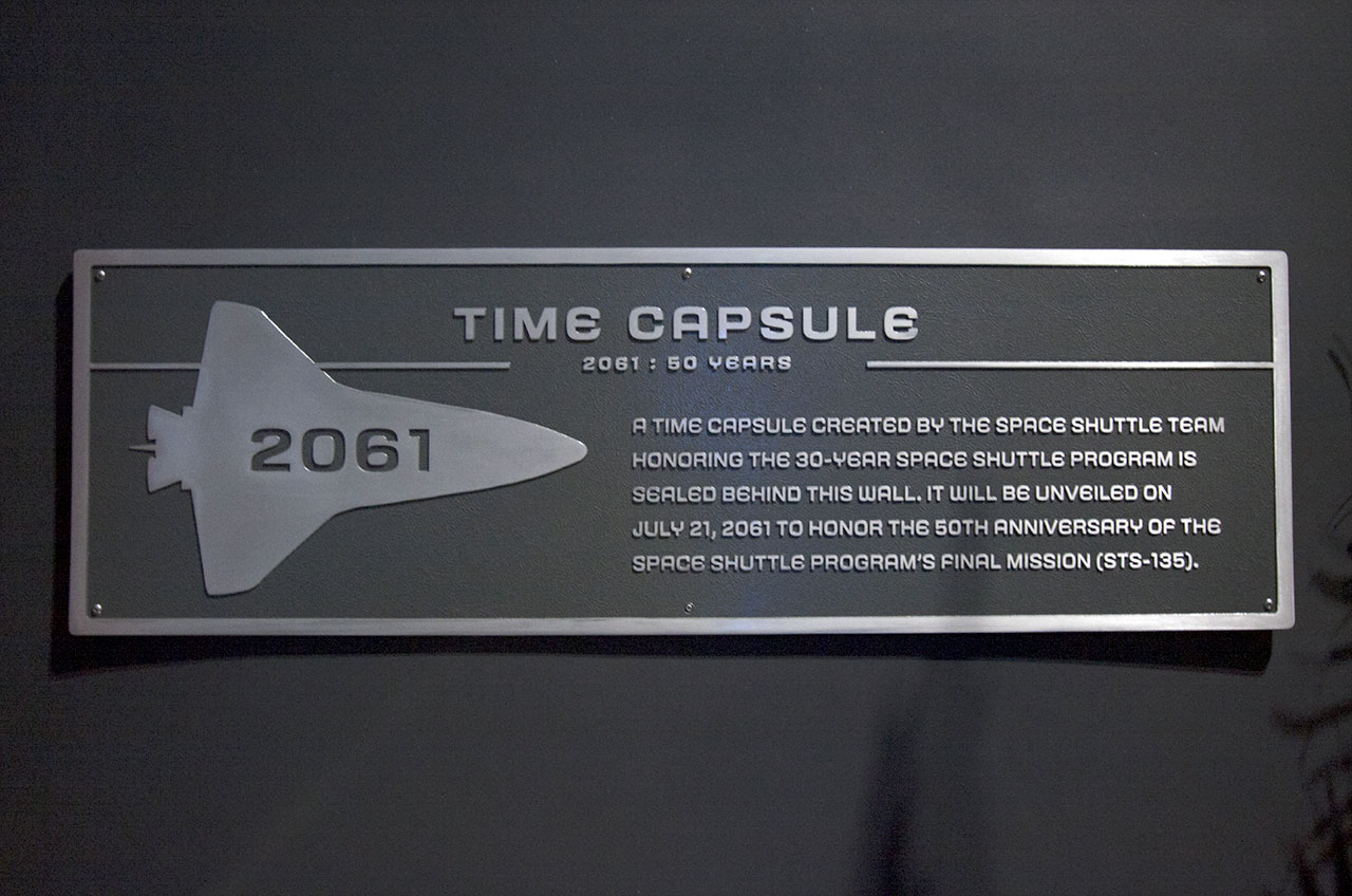 Time capsule sealed in space shuttle exhibit | collectSPACE