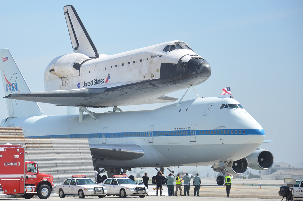 Space shuttle Endeavour lands in L.A. for display at ...
