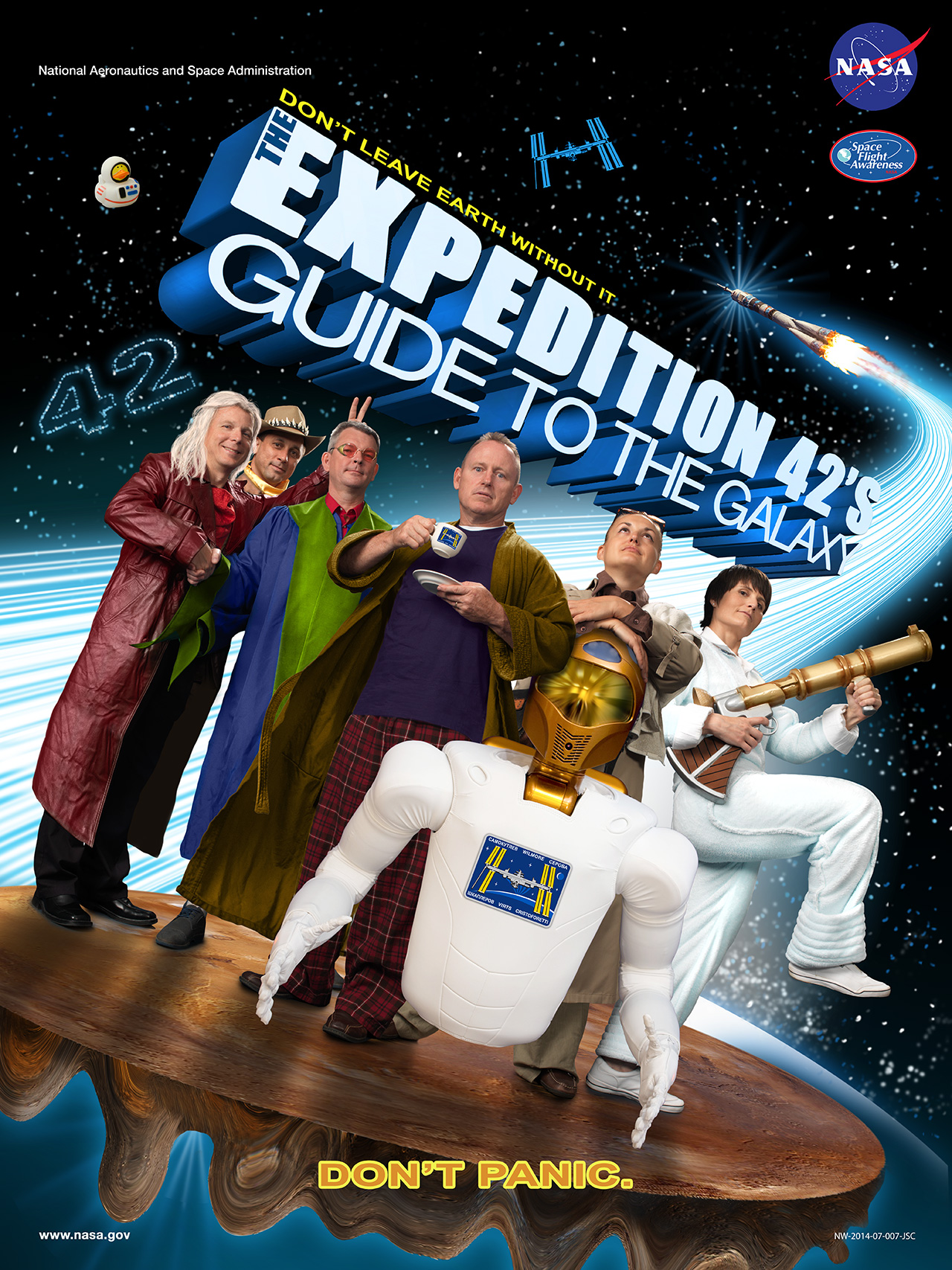 Expedition 42's theme was the Hitchhikers Guide to the Galaxy