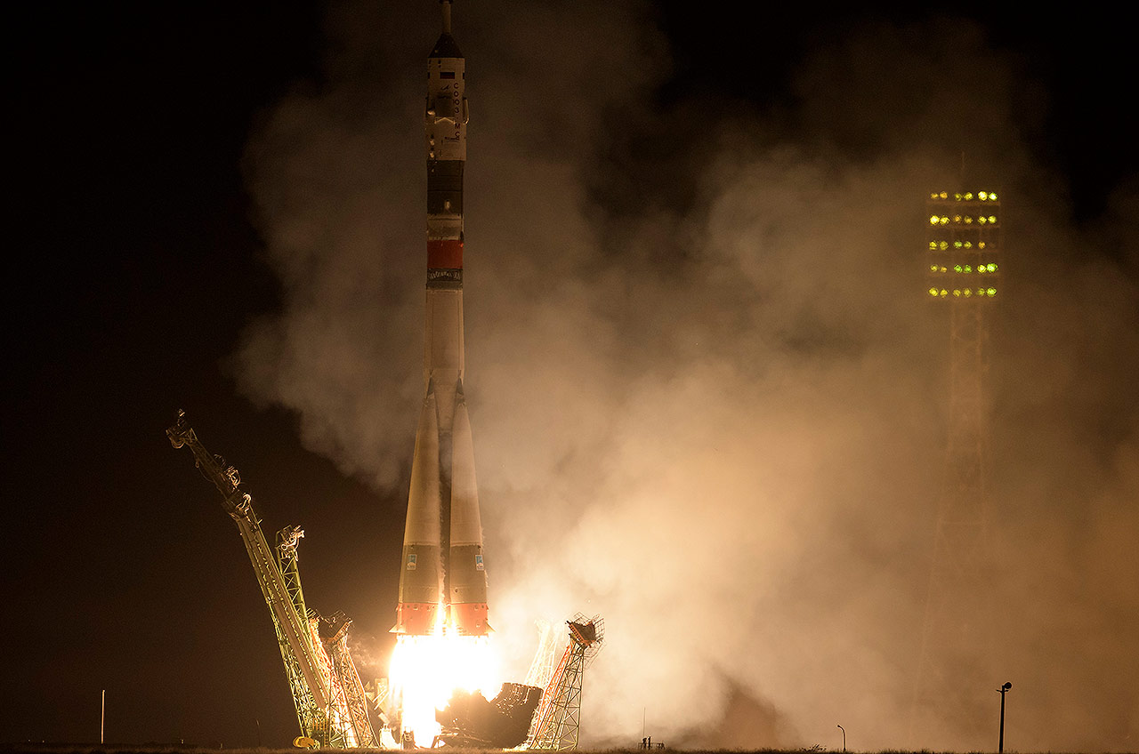 First UAE astronaut lifts off with American and Russian space station crew - collectSPACE.com