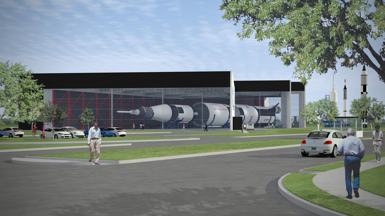 Rocket Park Houston Houston's Saturn v Rocket
