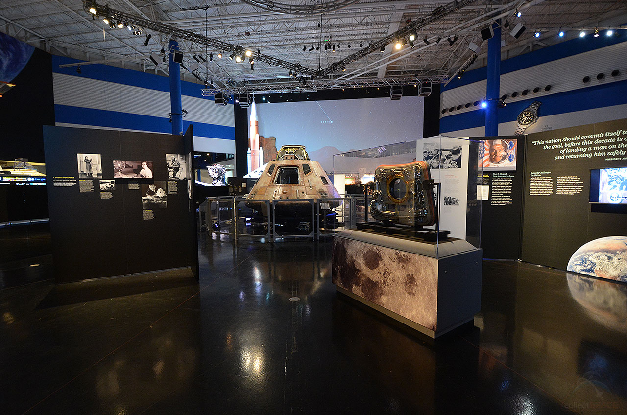 The 5000 square foot 465 square meter exhibition includes more than 20 artifacts from apollo 11 the first mission to land humans on the moon in july