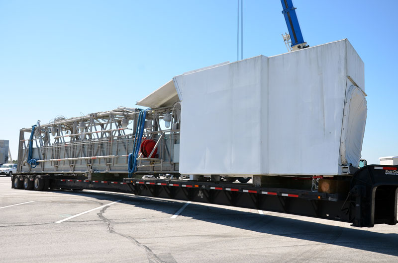 Historic space shuttle launch pad parts arrive in Houston