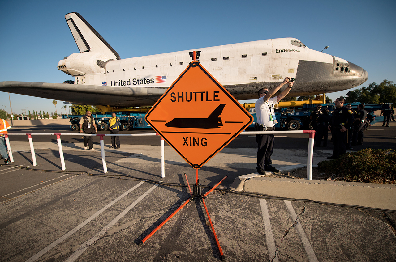 Endeavour's 'Shuttle Xing' traffic signs on sale as ...