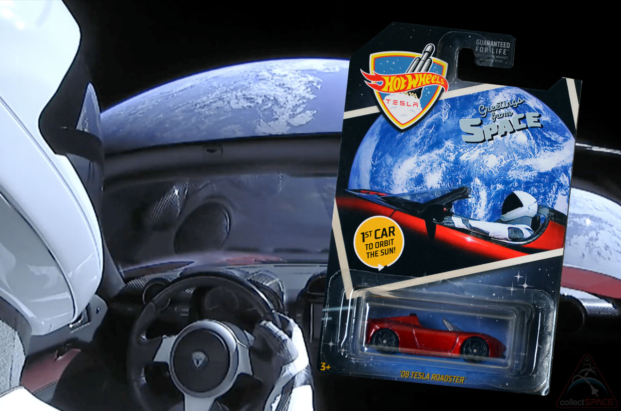 New Hot Wheels Tesla Roadster Toy Celebrates Spacex Launched Car