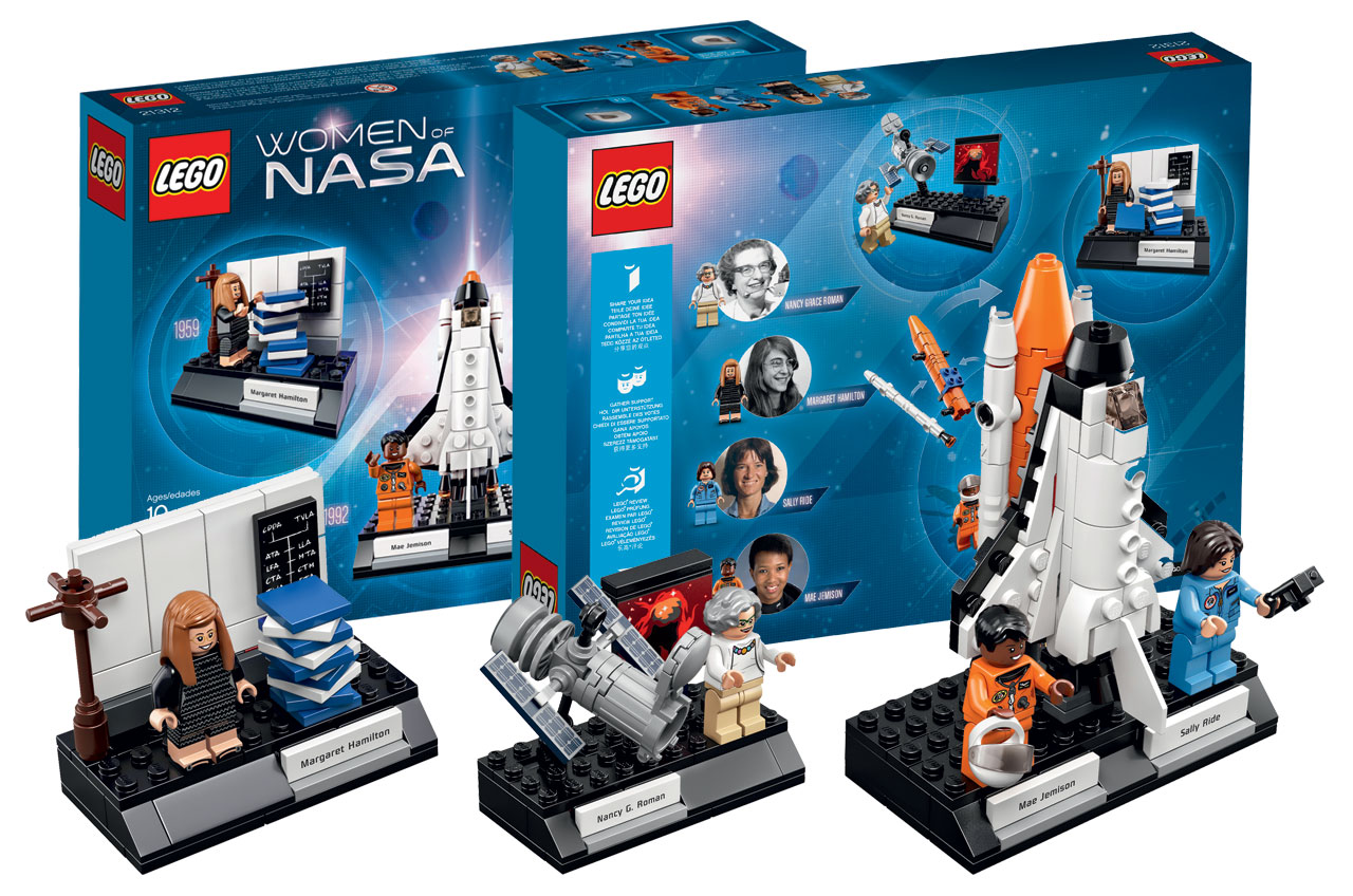LEGO 4 NEW SPACE MINIFIGURES ASTRONAUTS MALE /& FEMALE FIGURES