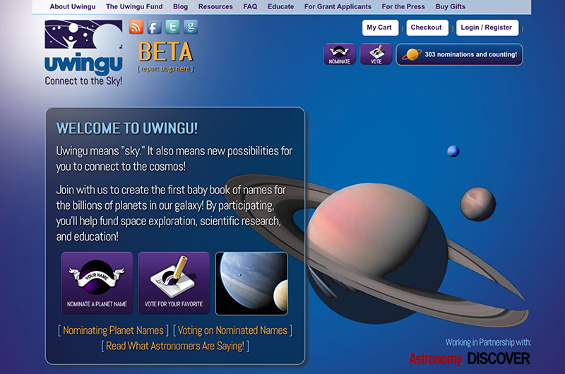 Website Collects Potential Planet Names In The Name Of Science Funding