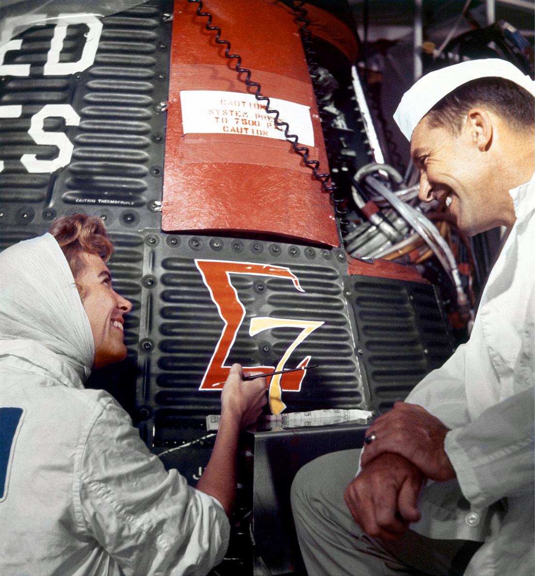 Cece Bibby Artist Behind Nasa S Mercury Space Capsule