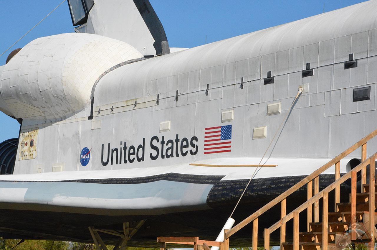 Space shuttle replica vandalized, sprayed with graffiti in ...